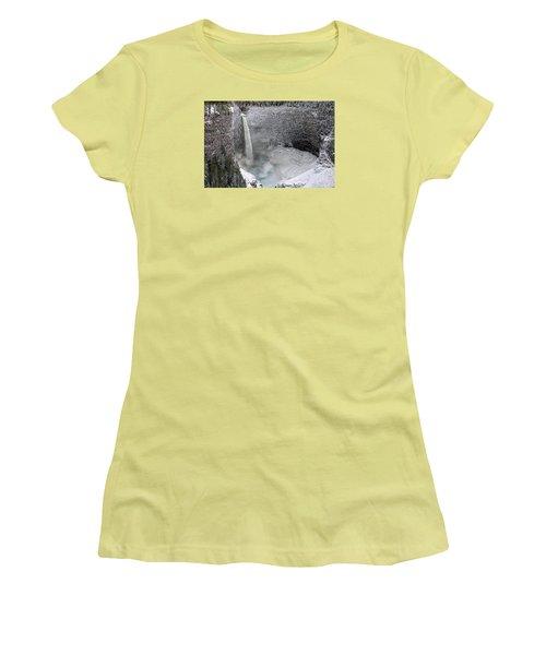 Helmcken Falls Women's T-Shirt (Junior Cut) by Ed Hall