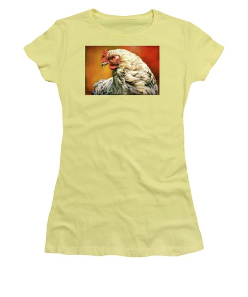 Women's T-Shirt (Athletic Fit) featuring the photograph Hen Rules by Bellesouth Studio