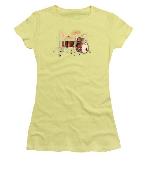Hendrix  Drums Women's T-Shirt (Junior Cut) by Shavit Mason