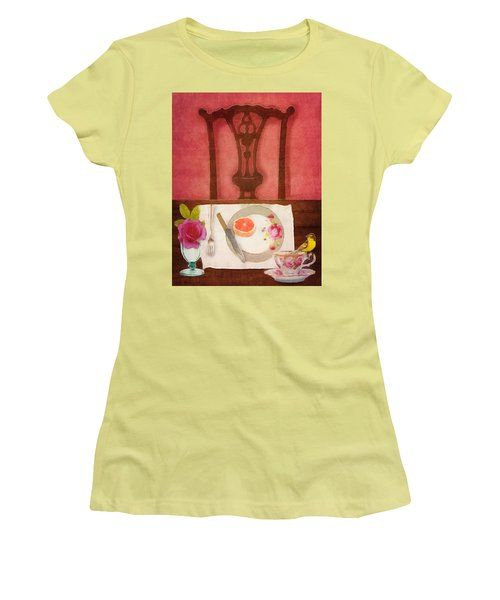 Women's T-Shirt (Junior Cut) featuring the digital art Her Place At The Table by Lisa Noneman