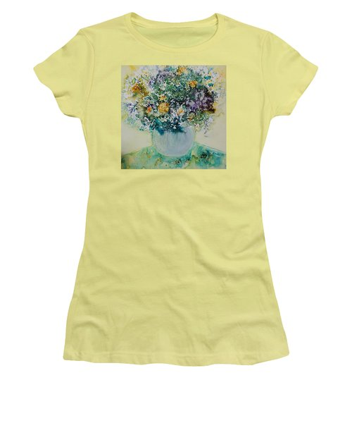Women's T-Shirt (Junior Cut) featuring the painting Herbal Bouquet by Joanne Smoley