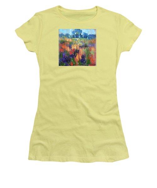 Women's T-Shirt (Junior Cut) featuring the painting Herbs by Anastasija Kraineva
