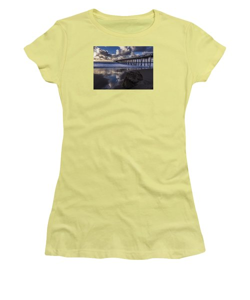 Hermosa Beach Pier Women's T-Shirt (Athletic Fit)