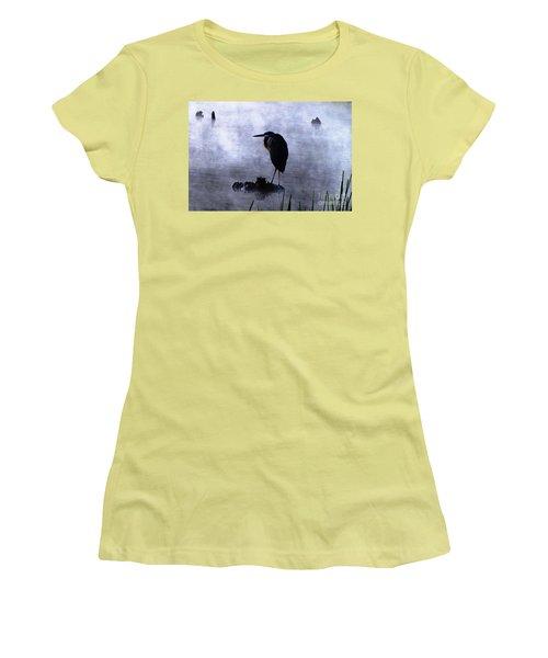 Heron 4 Women's T-Shirt (Junior Cut) by Melissa Stoudt