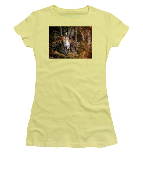 Women's T-Shirt (Junior Cut) featuring the photograph Heron Camouflage by Phil Mancuso