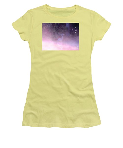 Women's T-Shirt (Junior Cut) featuring the photograph Heron Collection 3 by Melissa Stoudt