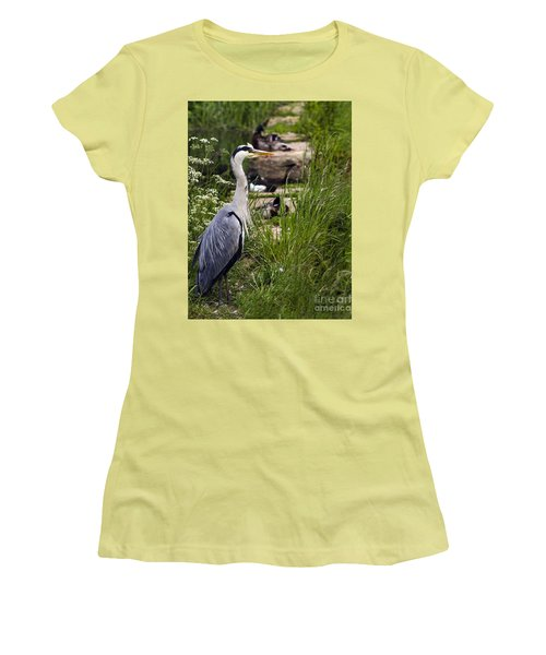 Women's T-Shirt (Junior Cut) featuring the photograph Heron by Linsey Williams