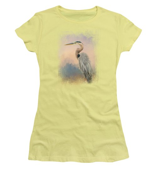 Heron On The Rocks Women's T-Shirt (Junior Cut) by Jai Johnson