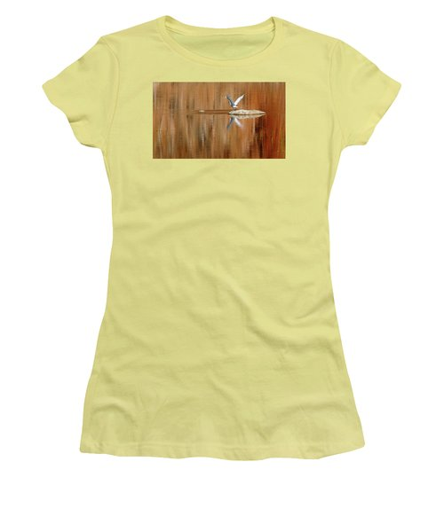 Heron Tapestry Women's T-Shirt (Junior Cut) by Evelyn Tambour
