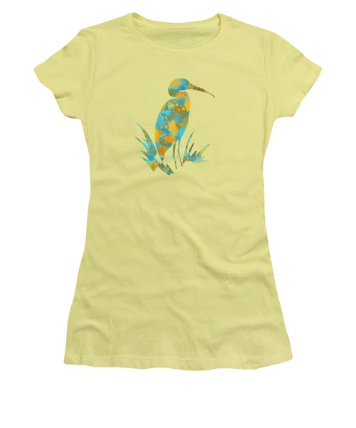 Heron Watercolor Art Women's T-Shirt (Junior Cut) by Christina Rollo