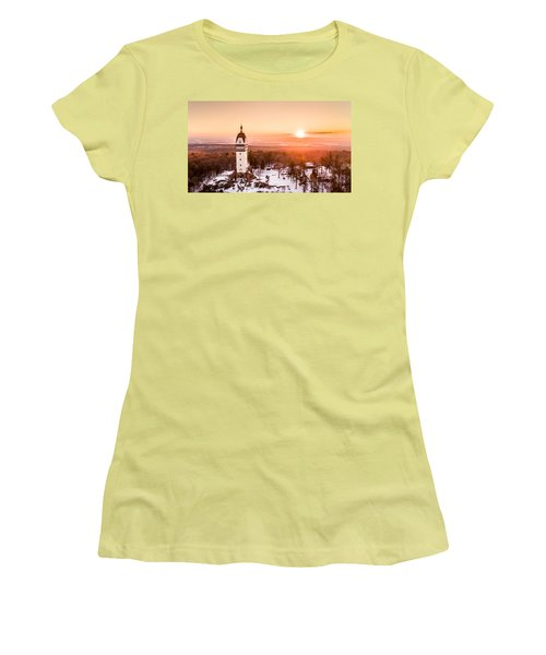 Women's T-Shirt (Junior Cut) featuring the photograph Heublein Tower In Simsbury Connecticut by Petr Hejl