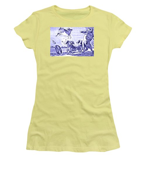 Hey Diddle Diddle The Cat And The Fiddle Nursery Rhyme Women's T-Shirt (Junior Cut) by Marian Cates