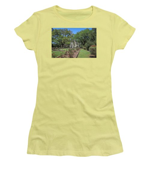 Women's T-Shirt (Junior Cut) featuring the photograph Heyman House Garden 5 by Gregory Daley  PPSA