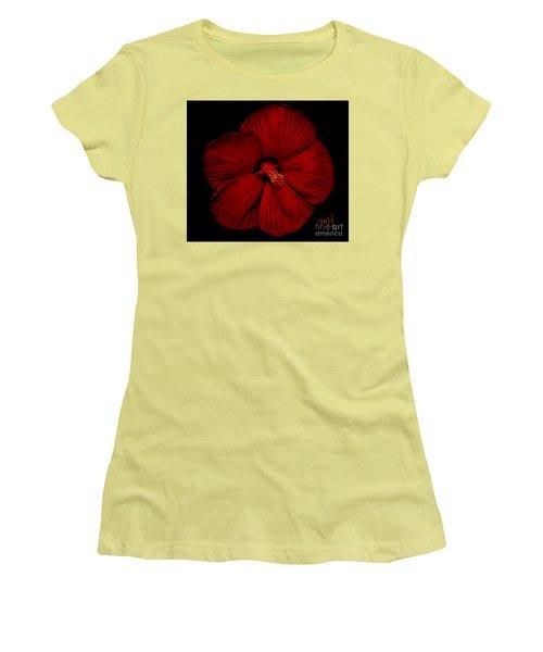 Hibiscus By Moonlight Women's T-Shirt (Junior Cut) by Marsha Heiken