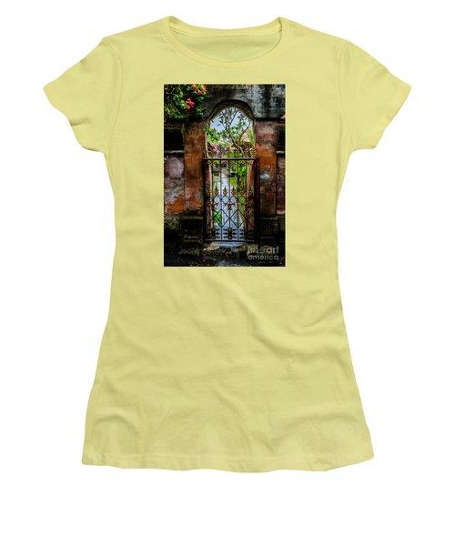 Bali Gate Women's T-Shirt (Junior Cut) by M G Whittingham