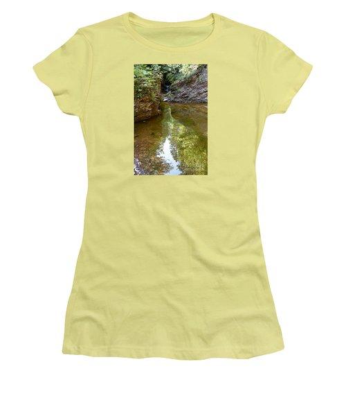 Women's T-Shirt (Junior Cut) featuring the photograph Hidden Gem On Gauthier Creek by Sandra Updyke
