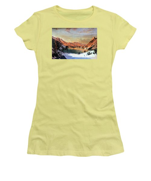 Hidden Lake Western United States Women's T-Shirt (Athletic Fit)