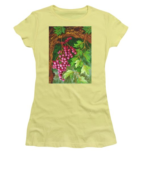 Women's T-Shirt (Junior Cut) featuring the painting Hidden Treasure by Katherine Young-Beck