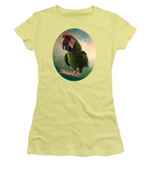 Higgins Women's T-Shirt (Junior Cut) by Zazu's House Parrot Sanctuary
