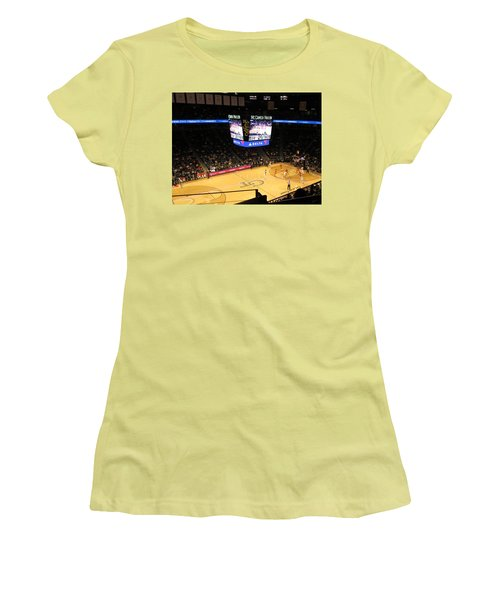 Women's T-Shirt (Athletic Fit) featuring the photograph High Atop The Thiller Dome by Aaron Martens