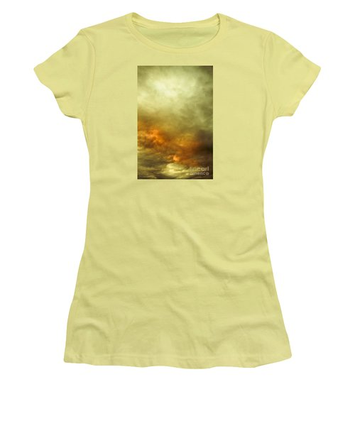 Women's T-Shirt (Athletic Fit) featuring the photograph High Pressure Skyline by Jorgo Photography - Wall Art Gallery