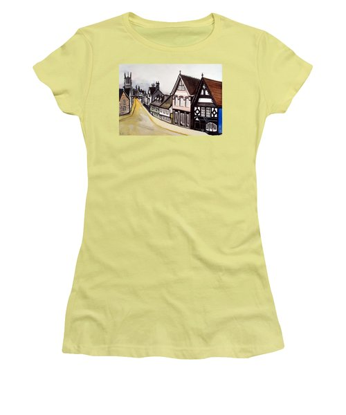 High Street Of Stamford In England Women's T-Shirt (Junior Cut) by Dora Hathazi Mendes
