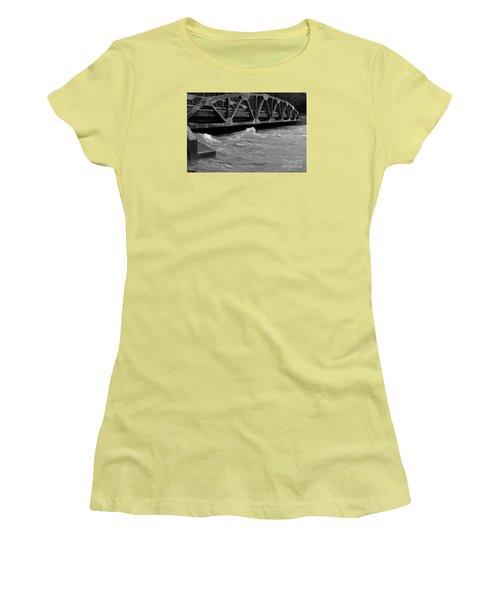 Women's T-Shirt (Junior Cut) featuring the photograph High Water by Randy Bodkins