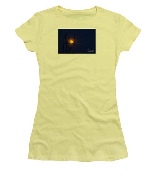 Highland Moon  Women's T-Shirt (Junior Cut) by Thomas R Fletcher