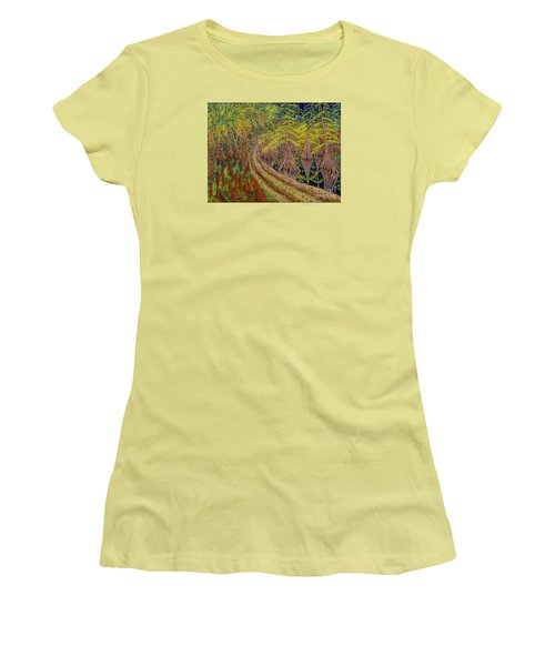 Highway 70 East Circa 1905 Women's T-Shirt (Junior Cut) by David Joyner