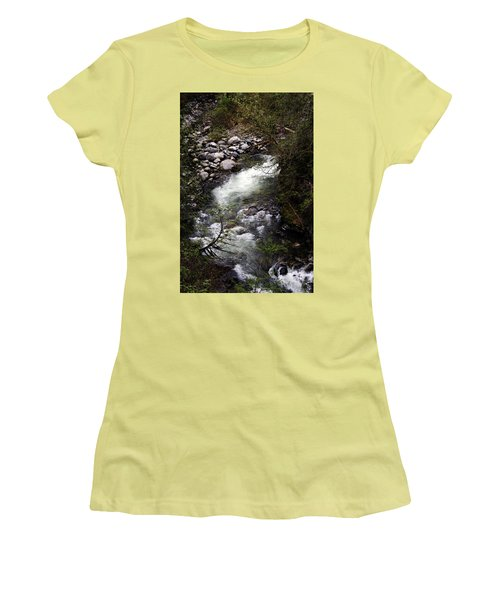 Hiking Wallace Falls#1 Women's T-Shirt (Athletic Fit)