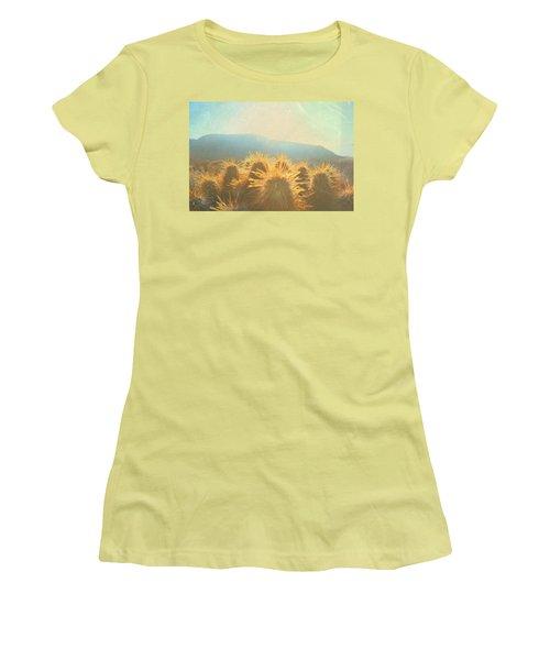 Women's T-Shirt (Junior Cut) featuring the photograph Hill Top Sunset  by Mark Ross