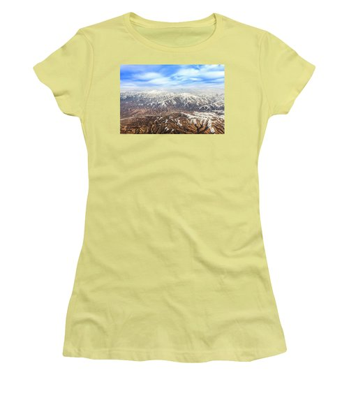 Hindu Kush Snowy Peaks Women's T-Shirt (Athletic Fit)