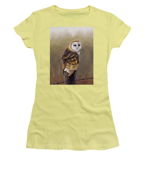 His Majesty Sits Women's T-Shirt (Junior Cut) by Dan Wagner
