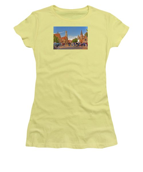 Women's T-Shirt (Junior Cut) featuring the photograph Historic Bruges by Dennis Cox WorldViews