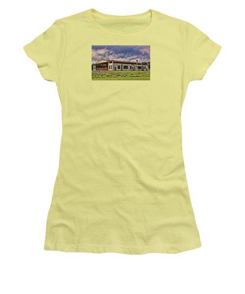 Historic Curtiss Wright Hanger Women's T-Shirt (Junior Cut) by Steven Richardson