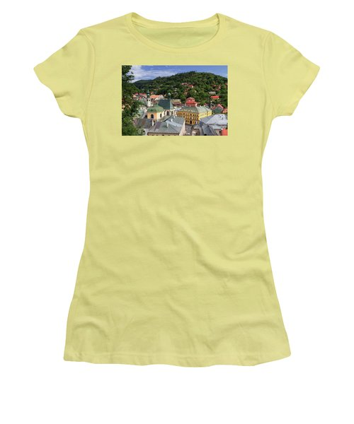 Historic Mining Town Banska Stiavnica, Slovakia Women's T-Shirt (Athletic Fit)