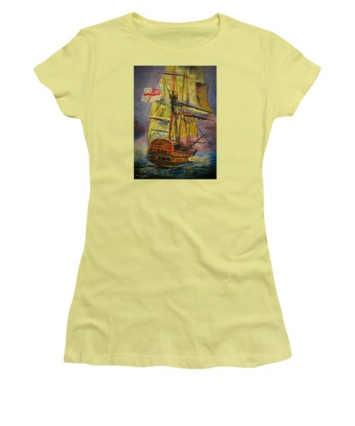 Hms Hero Women's T-Shirt (Athletic Fit)