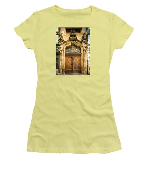 Holding Up The Doorway Women's T-Shirt (Athletic Fit)