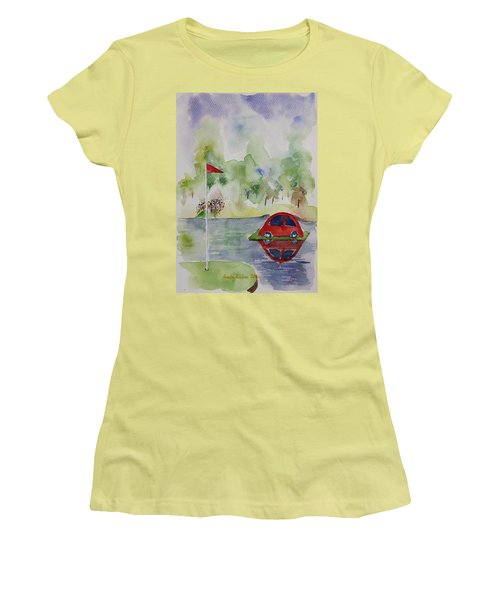 Hole In One Prize Women's T-Shirt (Junior Cut) by Geeta Biswas