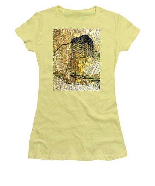 Women's T-Shirt (Junior Cut) featuring the mixed media Hole In The Wall by Tony Rubino