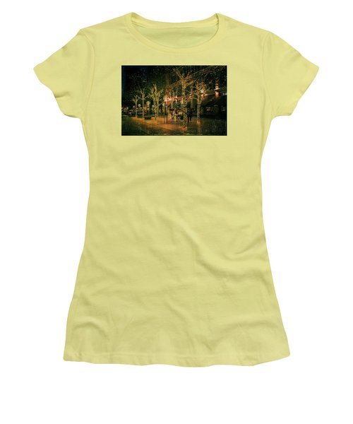 Holiday Handsome Cab Women's T-Shirt (Junior Cut) by Kristal Kraft