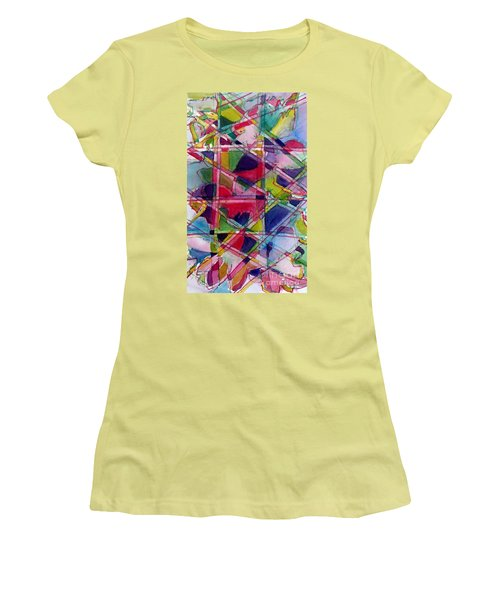 Holiday Rush Women's T-Shirt (Junior Cut) by Jan Bennicoff