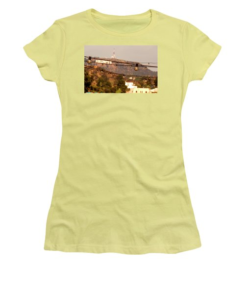 Women's T-Shirt (Junior Cut) featuring the photograph Hollywood Sign On The Hill 5 by Micah May