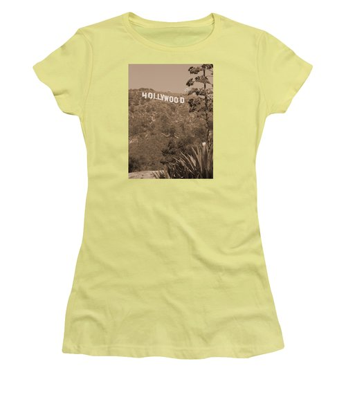 Hollywood Signage Women's T-Shirt (Athletic Fit)