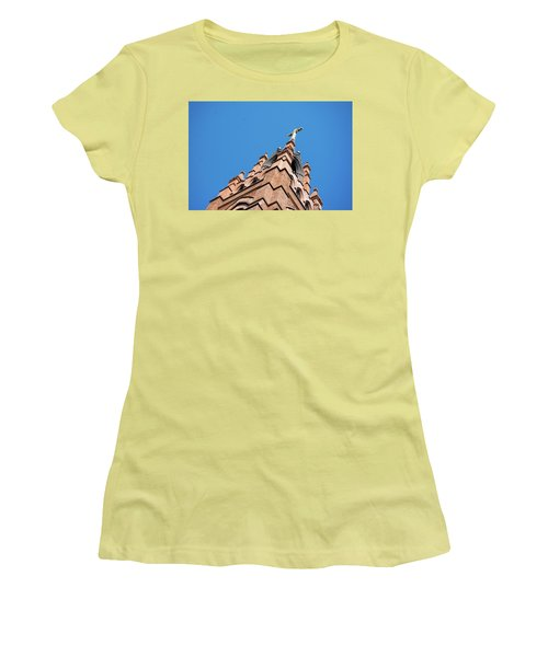 Huguenot Church Women's T-Shirt (Junior Cut) by Ed Waldrop