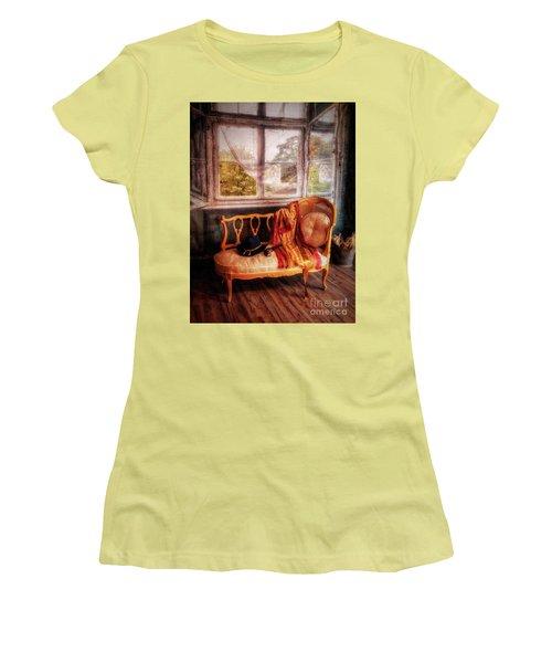 Home  At Last ... Women's T-Shirt (Junior Cut) by Chuck Caramella