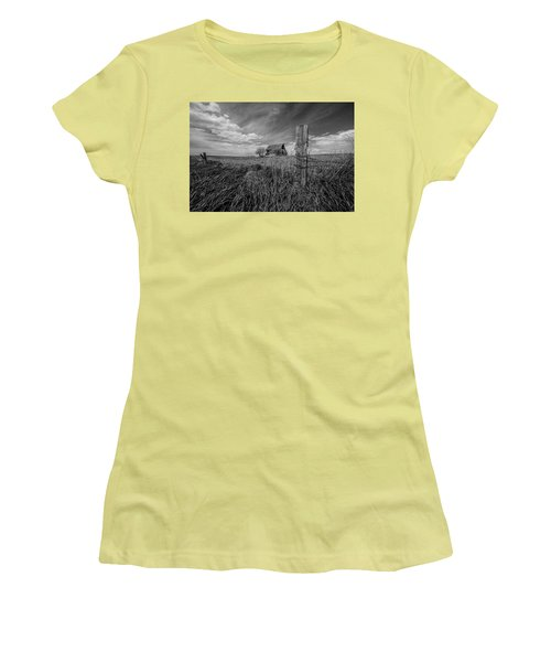 Women's T-Shirt (Junior Cut) featuring the photograph Home On The Range  by Aaron J Groen