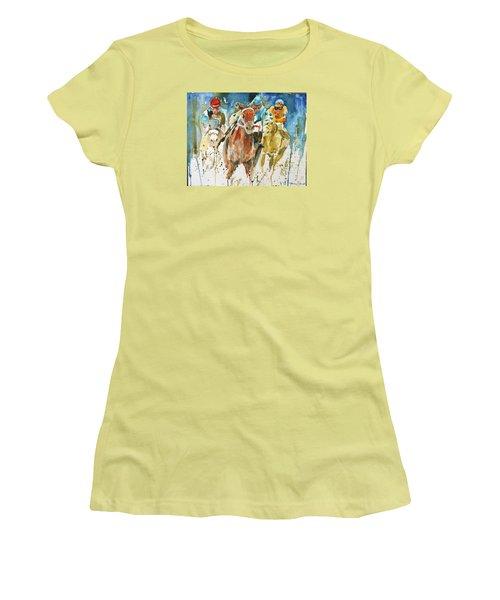 Home Stretch Women's T-Shirt (Junior Cut) by P Maure Bausch