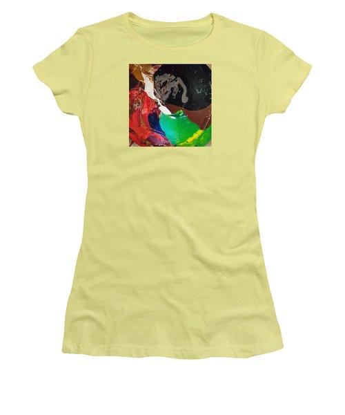 Homer Humming The Md Tune Women's T-Shirt (Junior Cut) by Gyula Julian Lovas