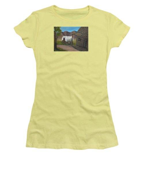 Women's T-Shirt (Junior Cut) featuring the painting Homestead by Sheri Keith